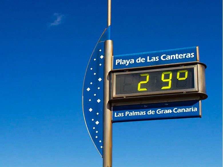 The temperatures in Gran Canaria are between 20 and 35 degrees throughout the year