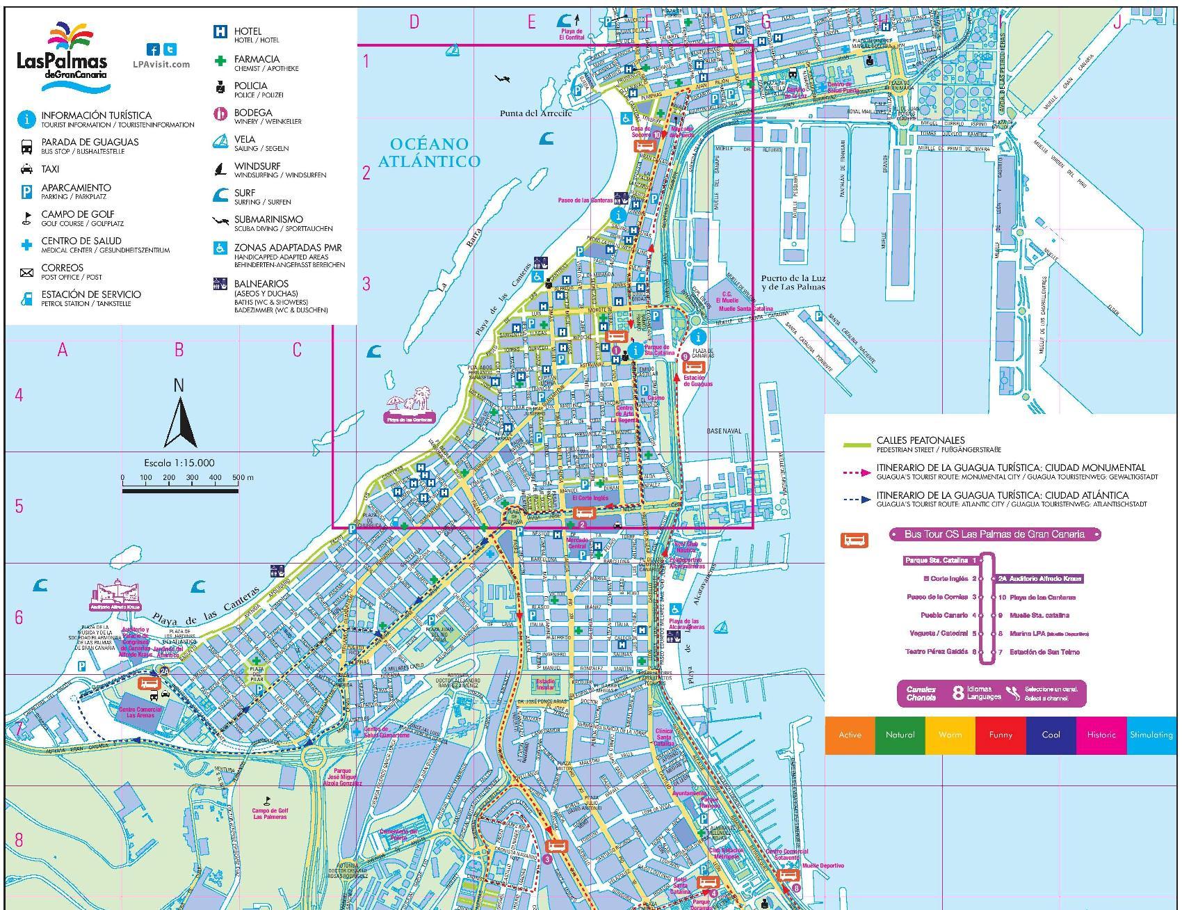 News Tourist Map of Las Palmas de Gran Canaria